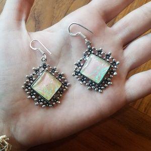 NWOT Triplet Opal Earrings